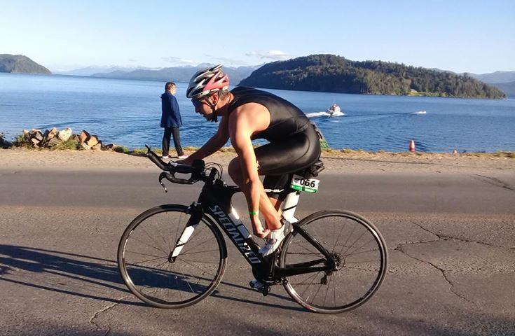 Martín subió al podio en el Tria de Isla Huemul